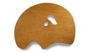 New Wave Palette Grand View Confidant Wooden Palette (Held in Left Hand) 60cm x 45cm - White Maple