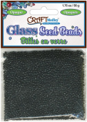 Glass Seed Beads 12/0 Opaque 60 Gms/Pkg-Black