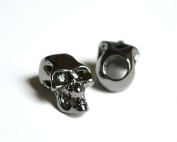 1 Metal Black Skull Bead For 550 Paracord Bracelets, Lanyards, & Other Projects