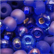 Czech Seed Beads 6/0 Mix Blue Moon Cobalt & Sapphire