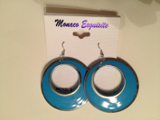 Monaco Exquisite Blue drop pierced earrings