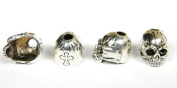 1 Large Metal Chrome Skull Bead For 550 Paracord Bracelets, Lanyards, & Other Projects