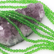 120 Pcs Chinese Crystal Glass Loose Beads Faceted Bicone 4mm Loose Spacer Green Quartz