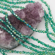 120 Pcs Chinese Crystal Glass Loose Beads Faceted Bicone 4mm Loose Spacer Peacock Green AB