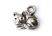 Pewter Cat Charm, 1