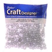 Pony Beads, Silver Glitter, 6 x 9mm, 245pc Pkg