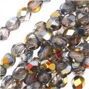 Czech Fire Polish Glass Beads 4mm Round Crystal Marea (50) 920036