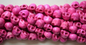 5 Pink Howlite Skull Beads (Loose) - Day of the Dead