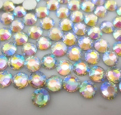 LOVEKITTY AB Clear - 500 Pc 3mm & 5mm Mixed Acrylic Rhinestones Round Flatback 14-facet