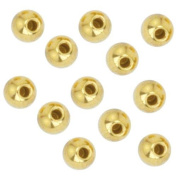 Beadalon Gold Plated Memory Wire End Cap Beads 3mm