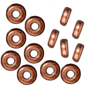 Copper Plated Lead-Free Pewter Disc Heishi Spacer Beads 5mm