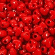 JOLLY STORE Crafts Red Heart Shaped Pony Beads 100pc