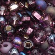 "Czech Seed Beads 15cm Purple Passion"" Mix"