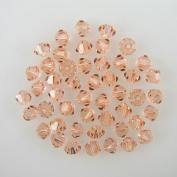 48 4mm. crystal bicone 5301 Lt Peach beads
