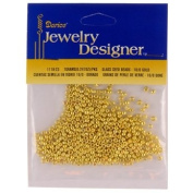 10/0 Glass Seed Beads, Gold, 7 Gramme Pkg