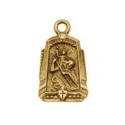 Nunn Design Antiqued Gold Plated Medallion Charm 'Protector' 14.5x24.5mm