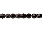 100 pcs Czech Fire-Polished Faceted Glass Beads Round 4mm Jet Black