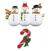Holiday Motif Pin (Candy Cane)