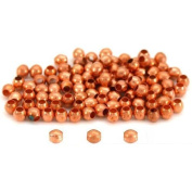 100 Round Ball Beads Copper Plated Jewellery Beading 3mm