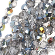 50pcs Czech Fire-Polished Faceted Glass Beads Round 6mm Crystal Marea