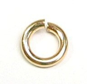 10 pcs 14k Gold Filled Round Open Jump Rings 5mm 18 Gauge 18ga Wire (heavy) / Findings / Yellow Gold