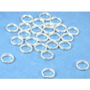 25 Sterling Silver Split Rings Charm Bead Parts 5mm