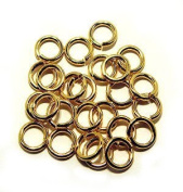 "SNAPEEZ® ""The Snapping Jump Ring"" - SNAPEEZ® ""The Snapping Jump Ring"" - SNAPEEZ® II ULTRAPLATE® 24 kt. Gold Ring Hard Open Jump 10mm Heavy Gauge"
