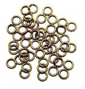 "SNAPEEZ® ""The Snapping Jump Ring"" - SNAPEEZ® II ULTRAPLATE® 24 kt. Russian Gold Ring Hard Open Jump 8mm Heavy Gauge"