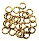 "SNAPEEZ® ""The Snapping Jump Ring"" - SNAPEEZ® II ULTRAPLATE® 24 kt. Gold Ring Hard Open Jump 14mm Heavy Gauge"