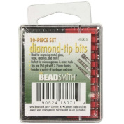 BeadSmith 10-Piece Diamond-Tip Drill Bits For Engraving - 150 Grit/2.35mm Shanks