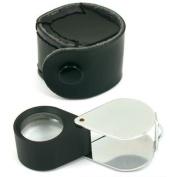 10x Round Eye Loupe Jewellers Gem Folding Magnifier 21mm