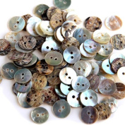 Lot 100 Mother of Pearl Round Shell Sewing Buttons 10mm HOT