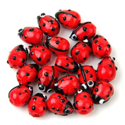 20 Red Lampwork Glass Ladybug Ladybird Loose Beads 12mm HOT