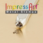 ImpressArt- 3mm, Tri-Swirl Design Stamp