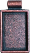 Lisa Pavelka Antique Copper Rectangle Bezel Settings, Nickel and Lead Free, 2.5cm