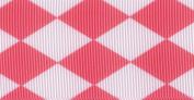 Venus Ribbon 3.8cm Jester Petite Grosgrain Ribbon, 5-Yard, Light Pink/Pink