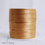 Old Gold 2mm x 100 yards Rattail Satin Nylon Trim Cord Chinese Knot