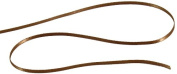 Kel-Toy Double Face Satin Ribbon, 0.3cm by 50-Yard, Copper Brown