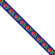 """5 yards 1/2"""" WIDE 13mm Floral Woven Jacquard Ribbon Trim Tape"""