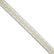 """5 yards 7/16"""" WIDE 12mm Waves Metallic Jacquard Ribbon Trim"""