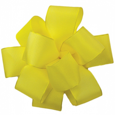 Offray Wired Edge Gelato Craft Ribbon, 1.6cm Wide by 25-Yard Spool, Yellow Chiffon