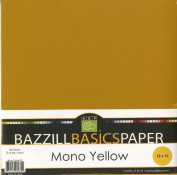 Bazzill Basics 30cm by 30cm 25-Sheet Cardstock, Yellow Assortment