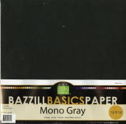 Bazzill Basics 30cm by 30cm 25-Sheet Cardstock, Grey Assortment