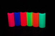 Assorted Blacklight Reactive Fluorescent Acrylic Paints, 6 Pack 60ml