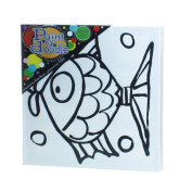 Fish Paint Set/kit for Kids and Adults - Complete Set with Canvas, Brushes and Acrylic Paint, 30cm X 30cm X 3.8cm