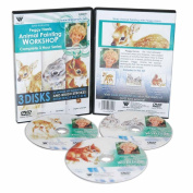 HARRIS DVD SET ANIMAL OIL PAINTING - FAWN, BABY JACK RABBITS & SQUIRREL. INCLUDES 3 DVDs. 3 HOUR