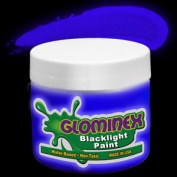 Glominex Blacklight UV Paint 240ml Jar - Blue