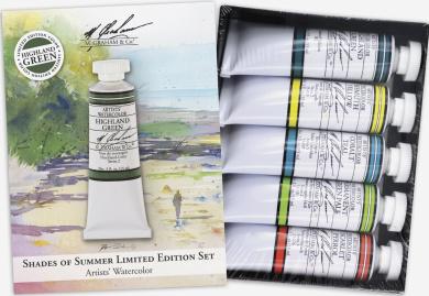 M. Graham Tube Watercolour Paint Shades of Summer 5-Colour Set, 30ml