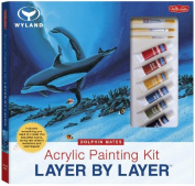 Walter Foster Acrylic Painting Layer By Layer Kit-Dolphin Mates