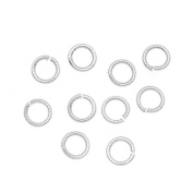 Nunn Design Silver Plated Open Jump Rings Etched 6.5mm 17 Gauge
